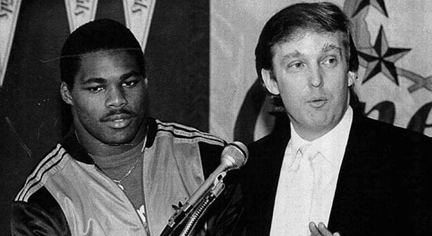 Herschel Walker with Donald Trump.