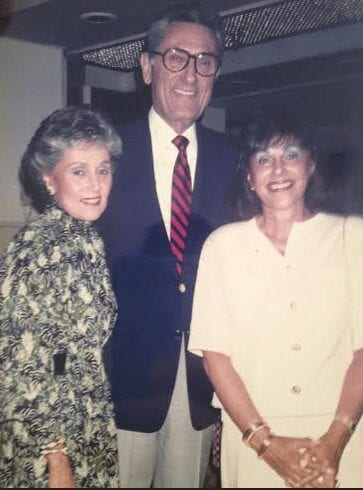 Back in the 1990s, alongside her siblings, Noel and Myra.