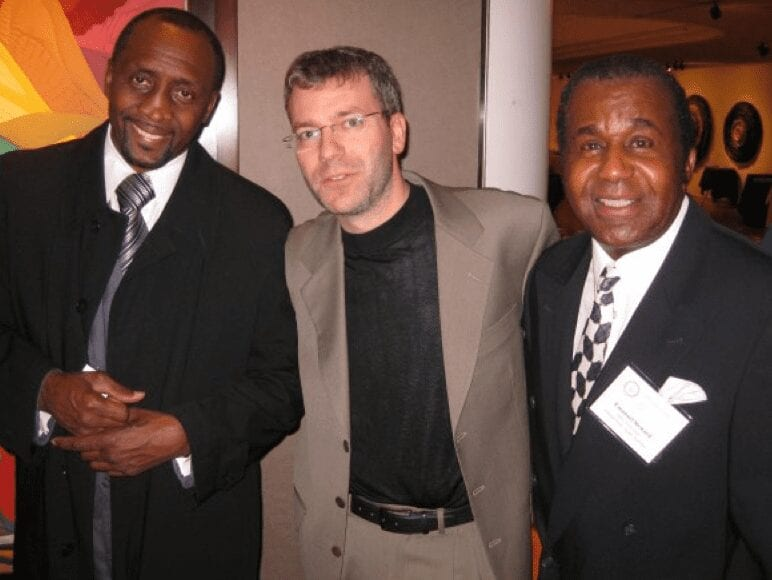 With Tommy Hearns and the late Emanuel Steward