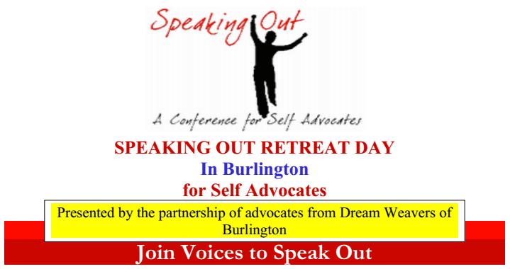 Speaking Out Retreat in Burlington, ON