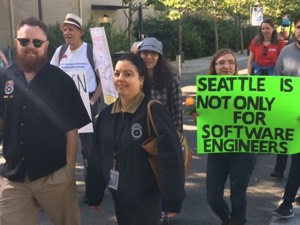 Affordable Housing Protests at Amazon Annual Meeting