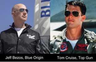 Jeff Bezos and Tom Cruise
