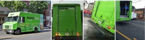 AmazonFresh California Out of State Plates