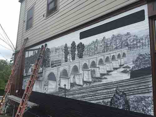 herkimer new york coffee mural