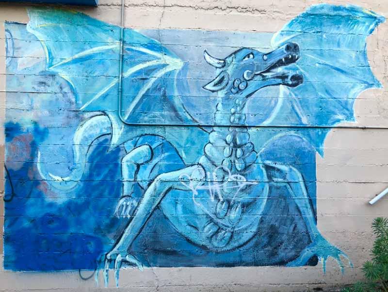 dragon mural portland
