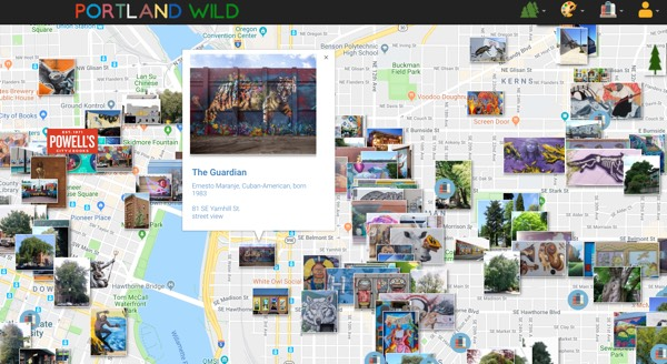 portland public art murals, heritage trees and little free libraries