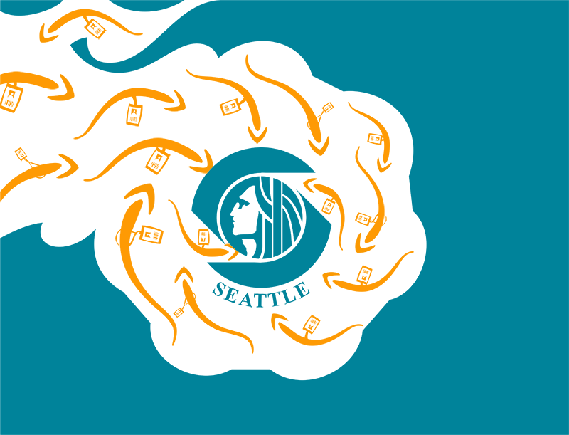 Seattle city flag for the Amazon era, The Stranger flag redesign contest