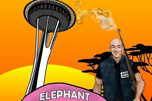 Jeff Bezos Hunts down Seattle's landmark Pink Elephant