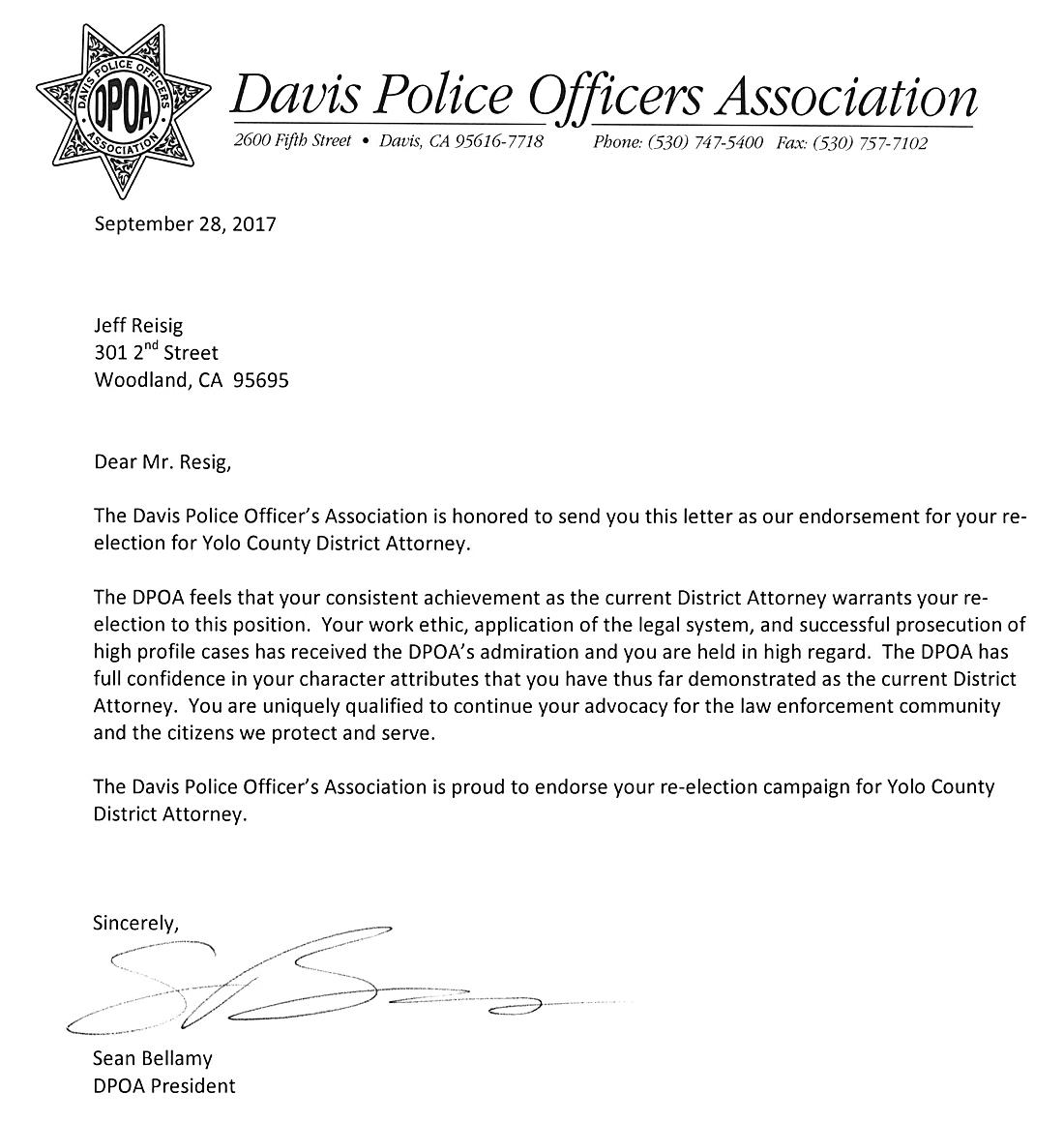 DavisPoliceOfficersociation-1100x1160 Sample For Application Letter Of Political Officer on