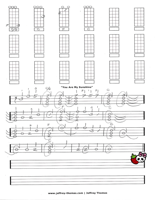 Sunshine Ukulele Chords : sunshine, ukulele, chords, Sunshine, Ukulele, Jeffrey, Thomas