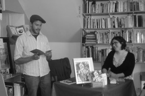 """Diana & Jeffrey, Book Signing at the """"Book Stop Cafe,"""" Kenmare, Ireland"""