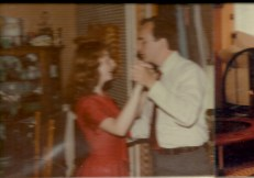 Teaching Beth to waltz in 1984, when she was 17.