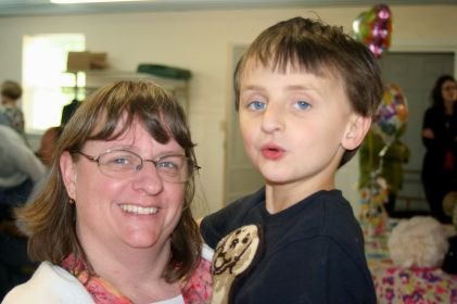 Beth with her son Joseph.