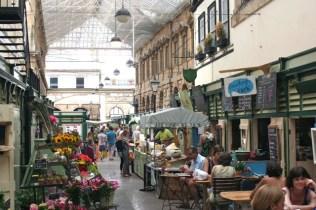 Food court in St. Nicholas market.