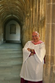 In the cloister after the service.