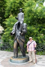 At the Kafka statue.