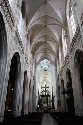 Local cathedral. The nave and chancel. That's a Rubens at the altar.