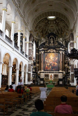 The Jesuit church, St. Charles Borromeo. That's another Rubens alter piece.