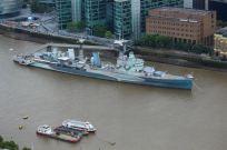 HMS Belfast, a naval museum.