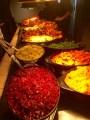 The dinner spread.