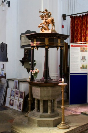 14th century font, with 18th century lid.