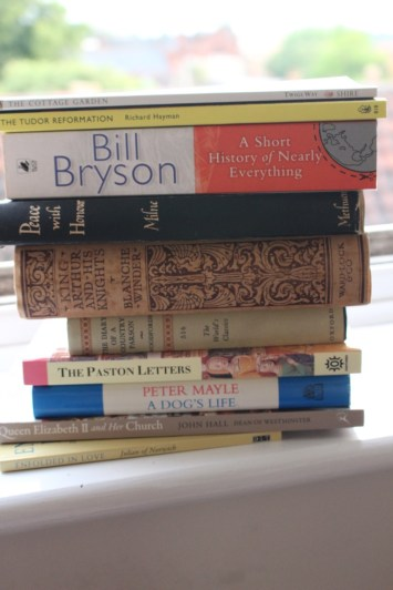 My stack of books from Norwich booksellers.