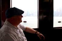 Aboard the harbour ferry.