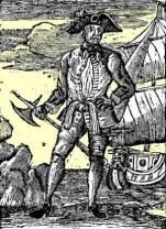 Piracy Pirate Ship Lithograph