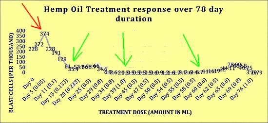 Cannabis Hemp Oil Remission in ALL Leukemia Blast Cells