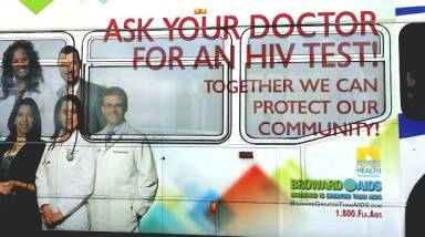 HIV Test Advertising on Broward County Bus_2