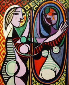 girl_before_a_mirror_aging_estrogen_HRT_pablo_picasso