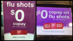 FLU Shot 0 zero copay walgreens