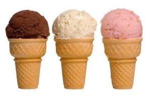 Chocolate VAnilla Strawberry Ice Cream
