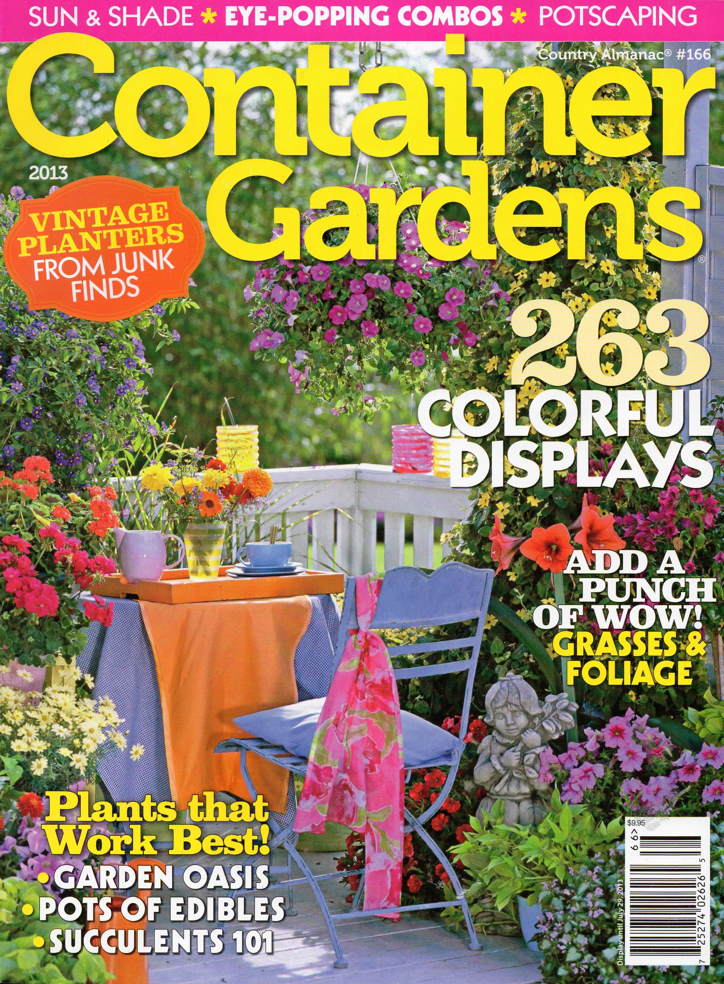 Container Gardening Magazines Boisholz, Natural Flower