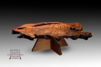 Double Pyramid Live Edge Coffee Table - Jeffrey Greene