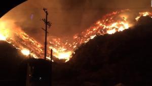 Wildfire near Getty Center (from CNN)