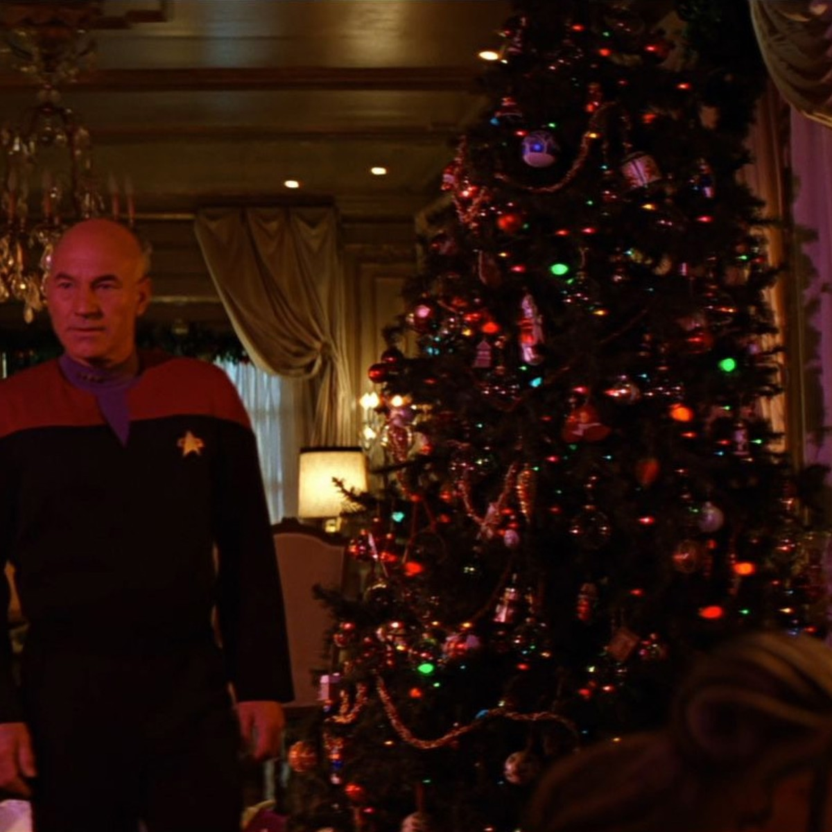 Picard with Christmas Tree