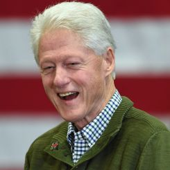 Former US President Bill Clinton and husband of democratic presidential candidate Hillary Clinton speaks during a rally Manchester Community College February 8, 2016 in Manchester, New Hampshire. / AFP / Don EMMERT (Photo credit should read DON EMMERT/AFP/Getty Images)