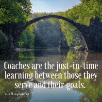 Coaches as Just-in-Time Learning