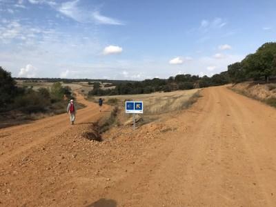 Camino de Santiago path near Villares de Órbigo, Spain