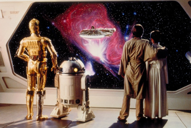 The Empire Strikes Back - C3-P0, R2-D2, Luke Skywalker and Princess Leia