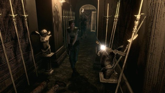 Resident Evil HD - Jill Valentine walks in mansion