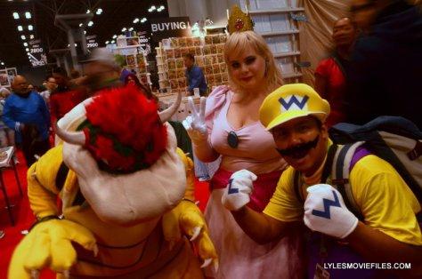 New York Comic Con 2015 cosplay - Bowser, Princess Toadstool and Wario