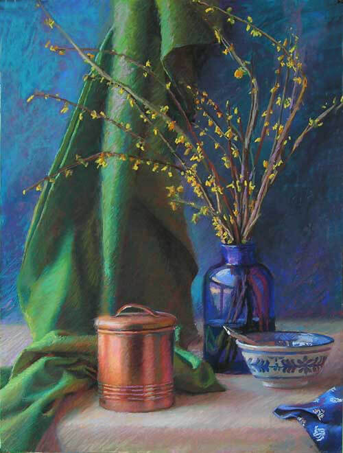Forsythia and Copper Canister, final
