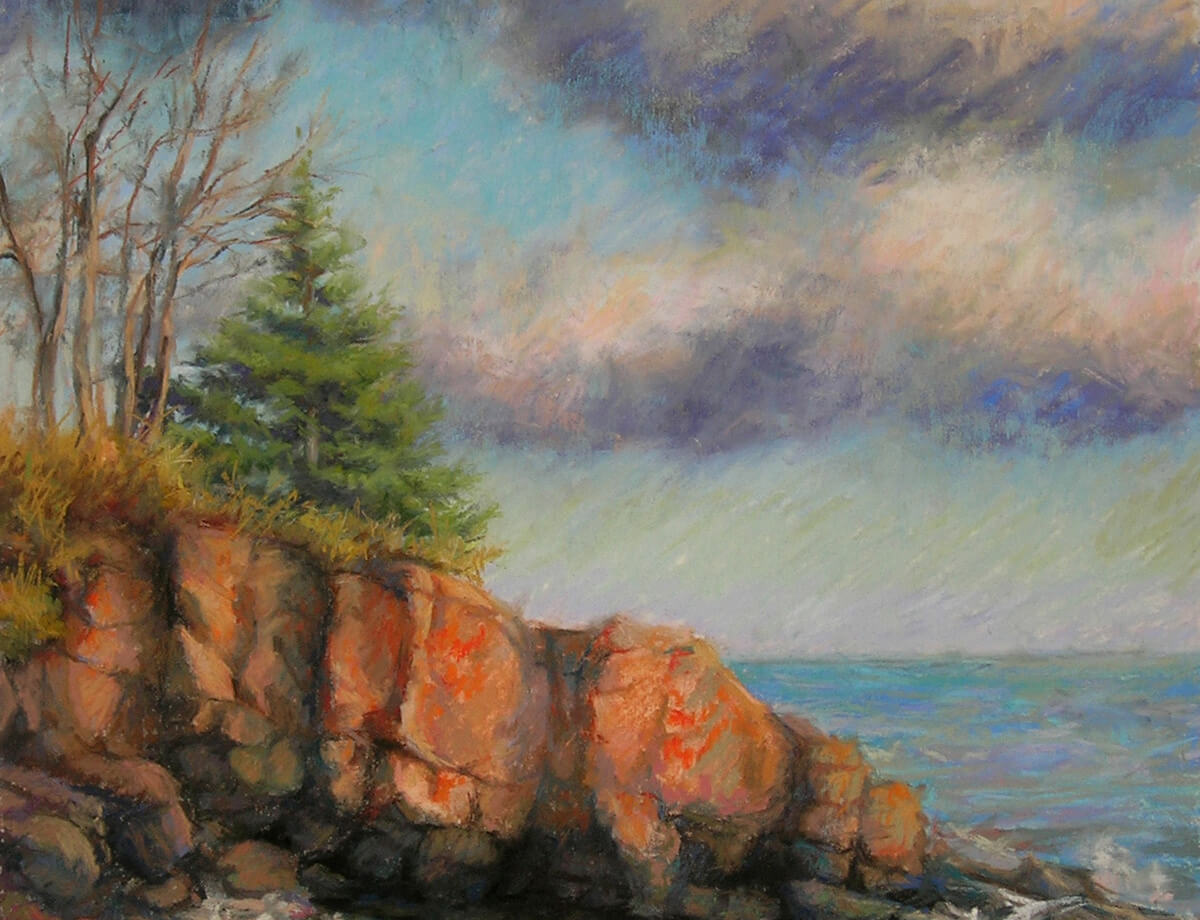 Recycling a plein air painting and a vacation