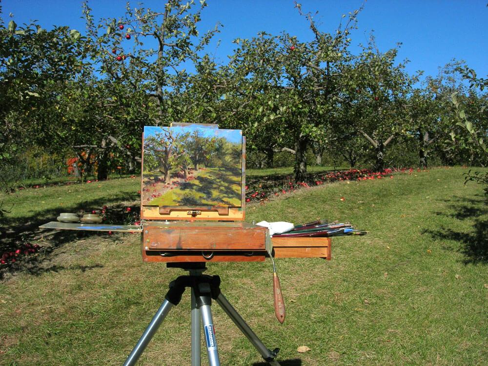 Autumn in Minnesota | Plein air painting in the Apple Orchard