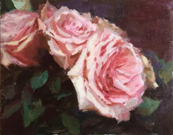 Soft Pink Roses | Jeffrey Smith Art
