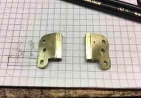 12 Brass hinge shaped