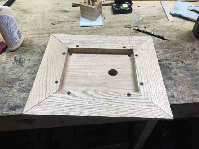 Orrery base attached