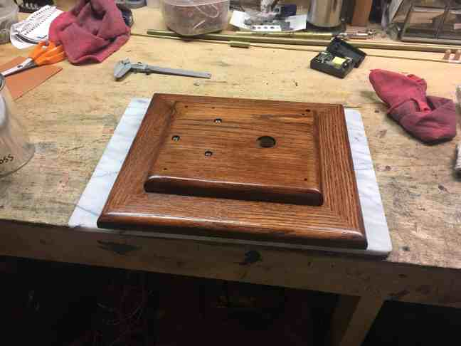 Orrery base stained